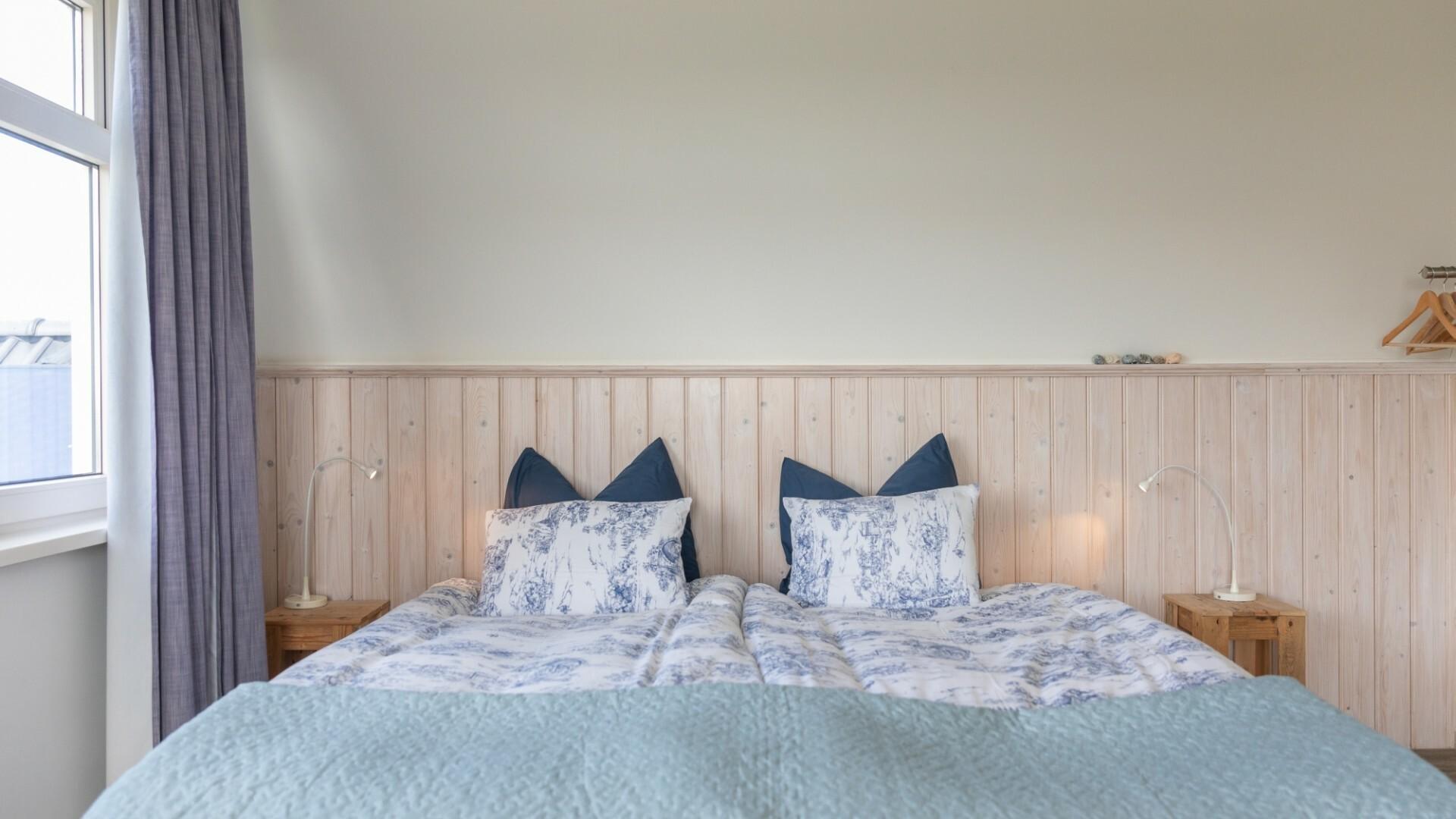Slaapkamer bed en breakfast Wad Uniek VVV Texel