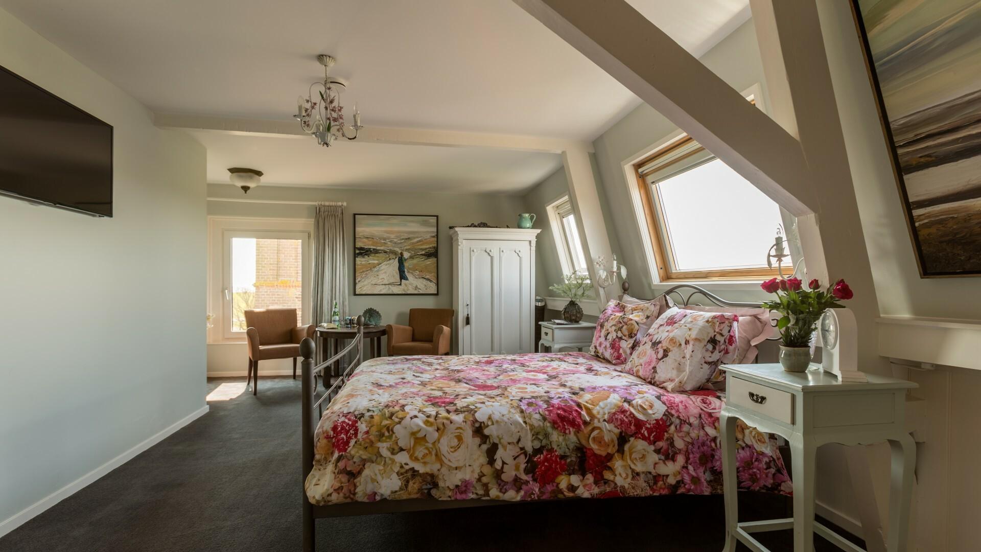 Slaapkamer Stella bed en breakfast Pastorie Marie VVV Texel