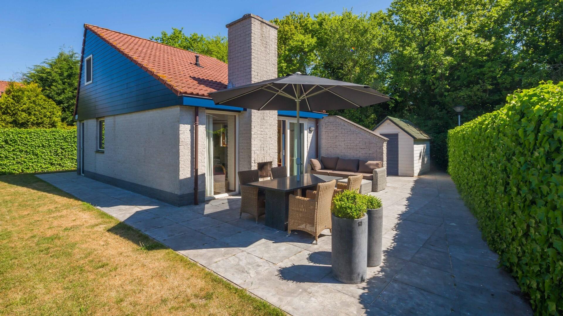 Terras vrijstaand vakantiehuis Gortersmient VVV Texel