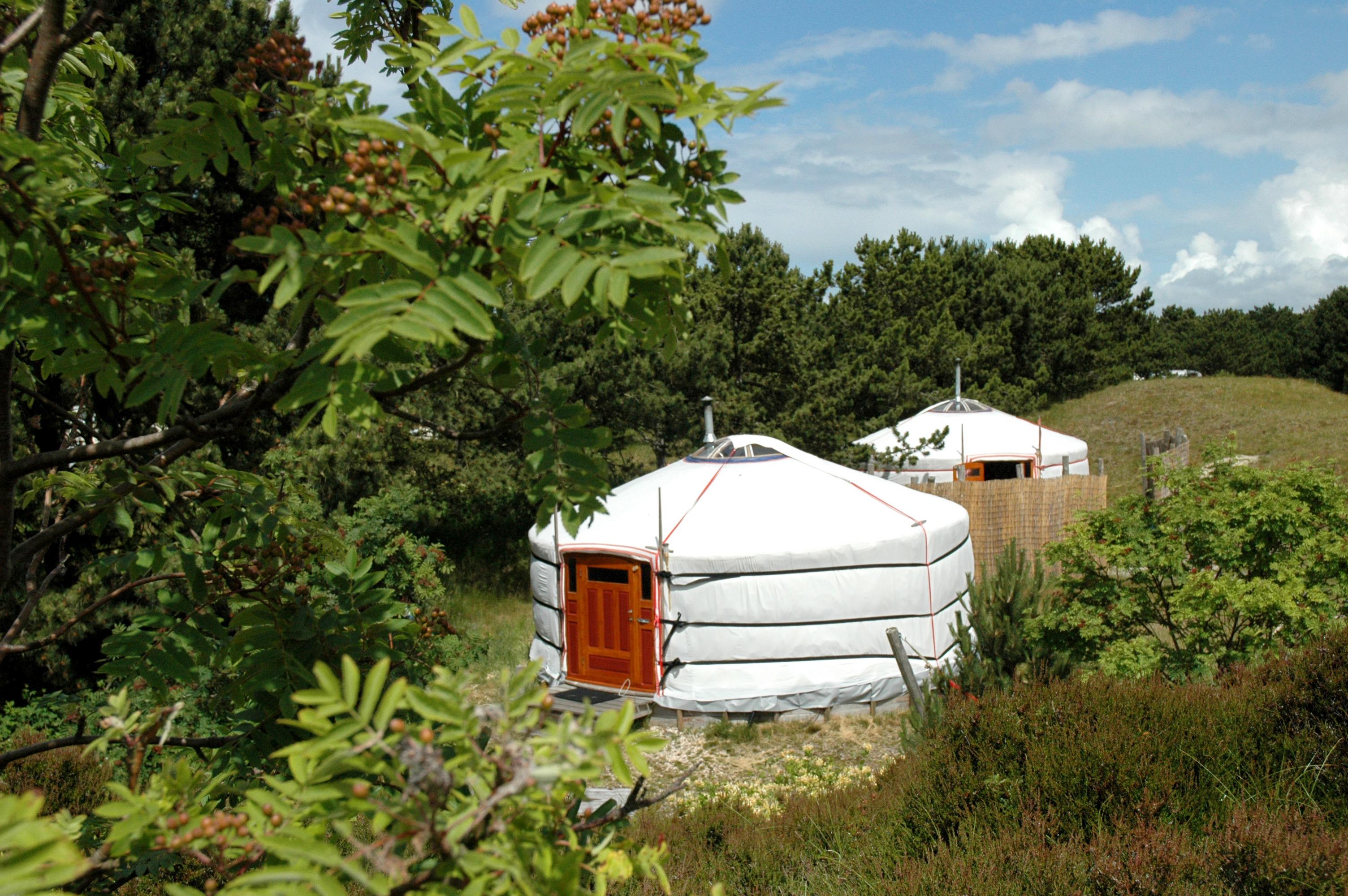 Yurts in de duinen bij Den Hoorn VVV Texel