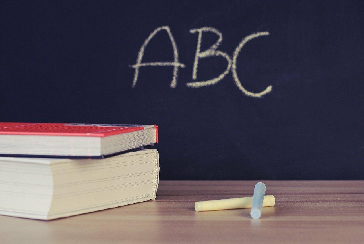 Schoolbord taalcursus Tessels VVV Texel