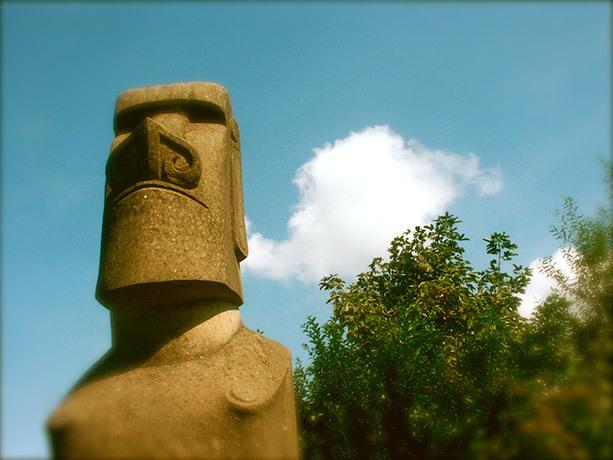 Standbeeld Paaseiland eiland galerij VVV Texel
