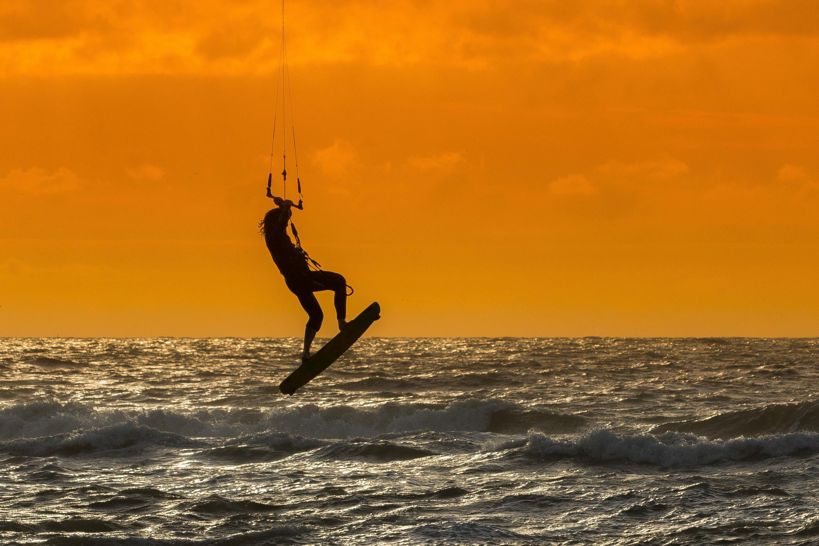Kitesurfen op de Noordzee fotowedstrijd VVV Texel Mieke Bazuin