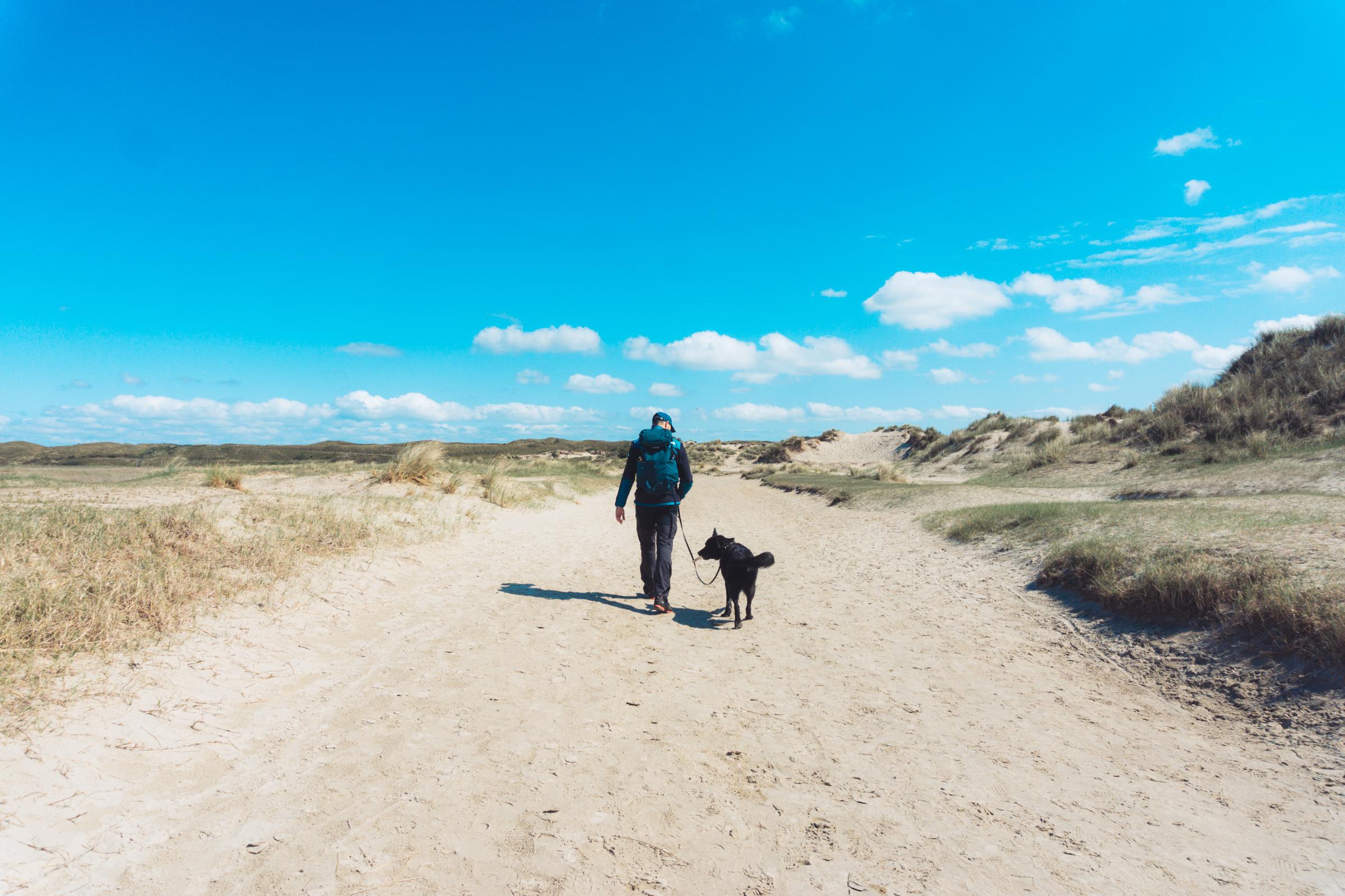 Wandelen met hond op Texel VVV Texel fotograaf Kaz Paul van The Hike