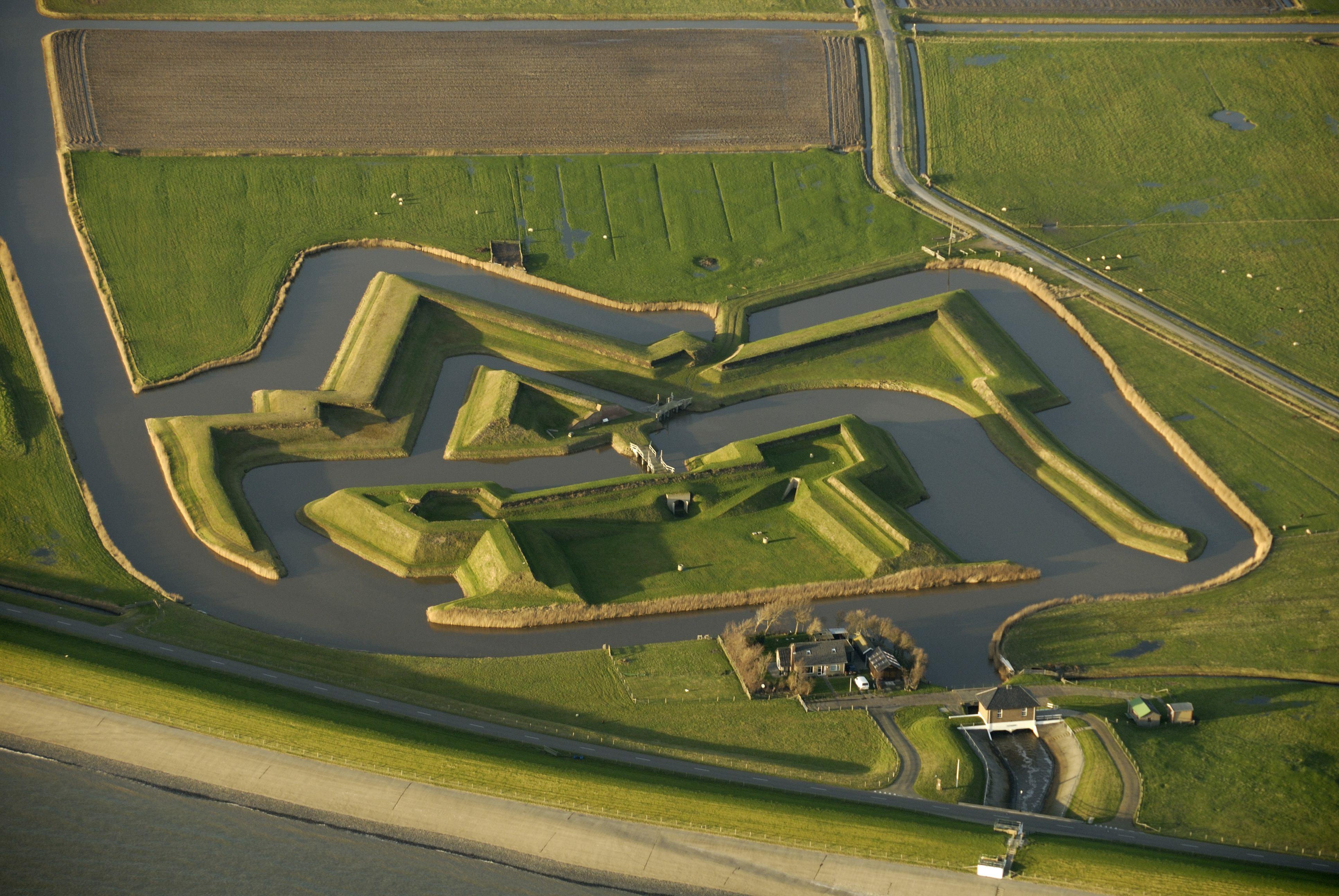 Fort De Schans luchtfoto VVV Texel Natuurmonumenten