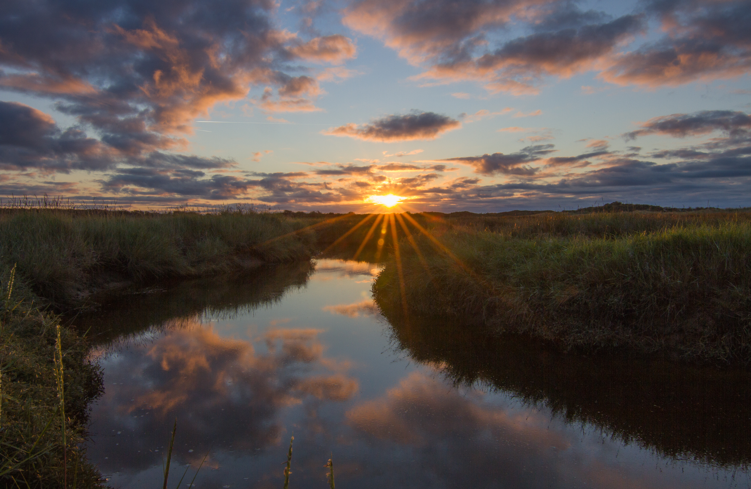 Zonsondergang in De Slufter fotowedstrijd VVV Texel Inez Vree 2