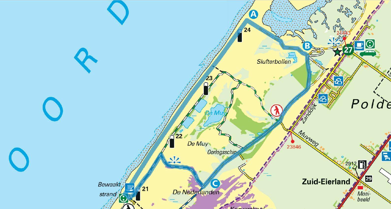 Wandelroute door de Muy en De Slufter VVV Texel